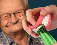 Denture Stories...Involving Fish, Bottle Caps, and Grandma!