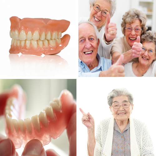 Picture Collage for Full Denture Services